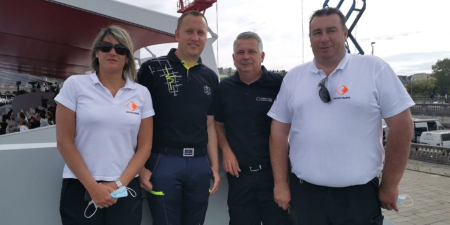 1418097-ambulance Marie-Pierre DAVID et David CURTI à l'honneur