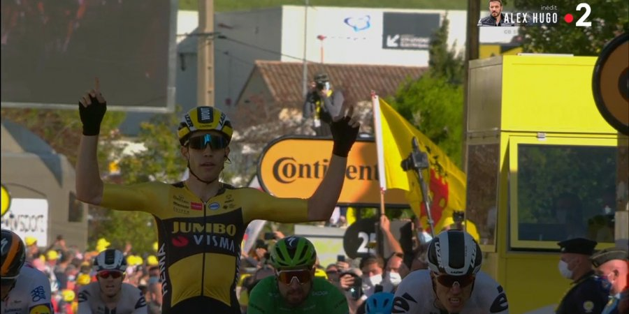 Tour de France : Wout Van Aert remporte la 5e étape